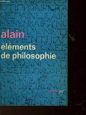 Elements De Philosophie - Couverture - Format classique