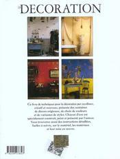 La Decoration - 4ème de couverture - Format classique