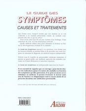 Le Guide Des Symptomes - 4ème de couverture - Format classique