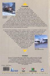 La Neige Dans Le Massif Central. Une Contrainte Pour La Gestion Des T Erritoires ? - 4ème de couverture - Format classique