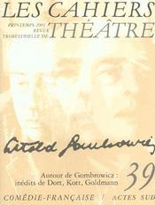 Les cahiers de la comedie francaise n 39 - Intérieur - Format classique