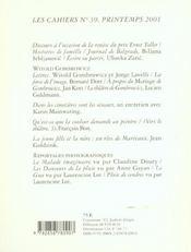 Les cahiers de la comedie francaise n 39 - 4ème de couverture - Format classique
