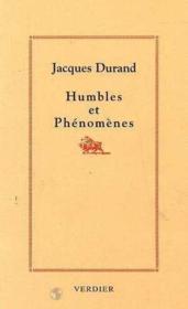 Humbles et phenomenes - Couverture - Format classique