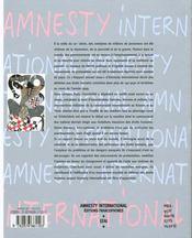 Amnesty international: rapport annuel 2000, supplément gratuit à la chronique n°163 juin - 4ème de couverture - Format classique