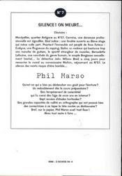 Silence on meurt ; 2e edition - 4ème de couverture - Format classique