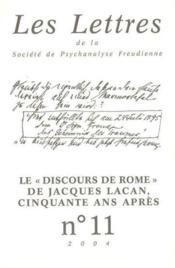 Revue Les Lettres De La Spf N 11 2004 - Le Discours De Rome - Couverture - Format classique