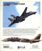 Les avions de combat américains ; Grumman F-14 Tomcat au combat (1972-2006) - 4ème de couverture - Format classique