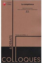 La competence - travaux de l'afda - 2 - Couverture - Format classique