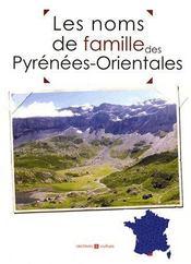 Les noms de famille des Pyrénées-Orientales - Couverture - Format classique