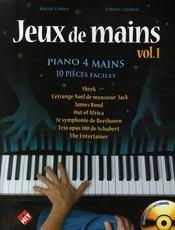 Jeux de mains + cd - Couverture - Format classique