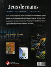 Jeux de mains + cd - 4ème de couverture - Format classique