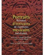 Portraits d'écrivains mexicains - Couverture - Format classique