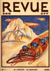 SBB Revue CFF, Swiss Federal Railways. N° 1 Sport d'Hiver - Couverture - Format classique