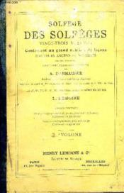 Solfege Des Solfeges 2eme Volume - Couverture - Format classique