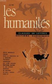 Les Humanites - Classe De Lettres - Juin 1961 - Couverture - Format classique
