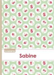 Carnet Sabine Lignes,96p,A5 Rosesteatime - Couverture - Format classique
