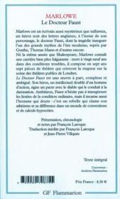 Le docteur Faust - 4ème de couverture - Format classique