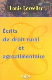 Ecrits de droit rural et agroalimentaire - Intérieur - Format classique