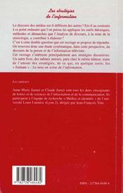 Les Strategies De L'Information - 4ème de couverture - Format classique