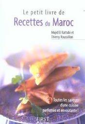 Le petit livre de recettes du Maroc - Intérieur - Format classique