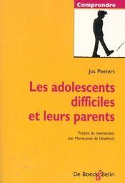 Adolescents Difficiles Et Leurs Parents - Intérieur - Format classique
