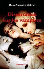Dissertations Sur Les Vampires - Couverture - Format classique