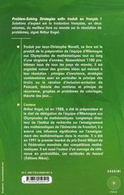 Solutions d'expert t.1 - 4ème de couverture - Format classique