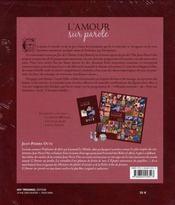 L'amour sur parole - 4ème de couverture - Format classique