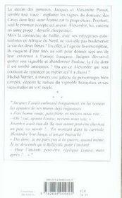 La taille de la saint-vincent - 4ème de couverture - Format classique
