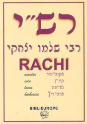 Rachi - Couverture - Format classique