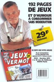 Almanach Vermot (édition 2001) - 4ème de couverture - Format classique