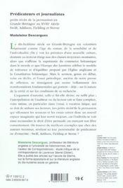 Predicateurs et journalistes. petits recits de la persuasion en grand e-bretagne au xviii<sup>e</sup - 4ème de couverture - Format classique