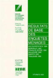 Resultats de base des enquetes menages de 1989 a 1990 - Couverture - Format classique