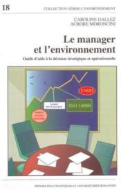 Le manager et l'environnement. outils d'aide a la decision strat et operationne - Couverture - Format classique