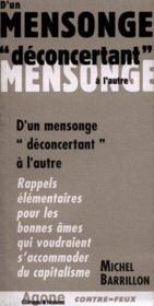 D'Un Mensonge Deconcertant A L'Autre (Sauf Quebec) - Couverture - Format classique
