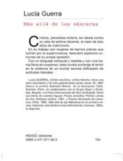 Mas alla de las mascaras - 4ème de couverture - Format classique