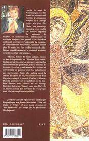 Dhuoda ; la carolingienne - 4ème de couverture - Format classique
