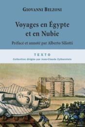Voyages en Egypte et en Nubie - Couverture - Format classique