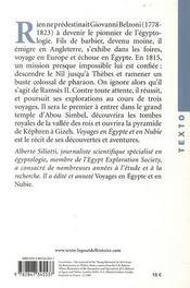 Voyages en Egypte et en Nubie - 4ème de couverture - Format classique