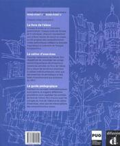 Rond point- niv. 1 - livre eleve + cd audio - 4ème de couverture - Format classique