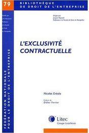 L'exclusivité contractuelle - Couverture - Format classique