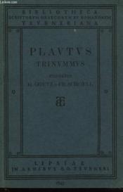 T. Macci Plavti Trinvmmvs - Couverture - Format classique