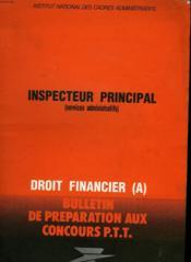 Inspecteur Principal - Couverture - Format classique