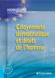 Citoyenneté démocratique et droit de l'homme - Couverture - Format classique