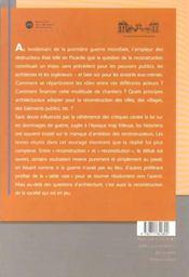 Reconstructions en picardie apres 1918 - 4ème de couverture - Format classique
