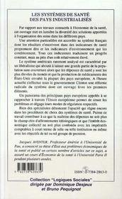 Les Systemes De Sante Des Pays Industrialises - 4ème de couverture - Format classique