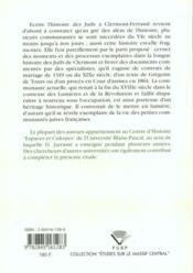 Les Juifs De Clermont. Une Histoire Fragmentee - 4ème de couverture - Format classique