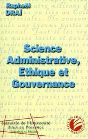 Science administrative, ethique et gouvernance - Couverture - Format classique