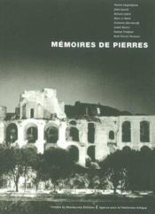 Memoires de pierres - Couverture - Format classique