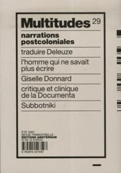 REVUE MULTITUDES T.29 ; narrations postcoloniales - Couverture - Format classique